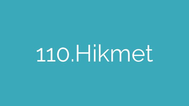 110.Hikmet
