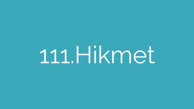 111.Hikmet