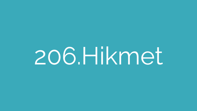 206.Hikmet