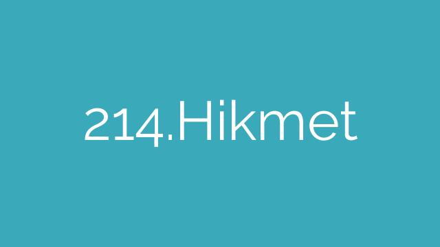 214.Hikmet