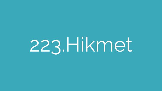 223.Hikmet