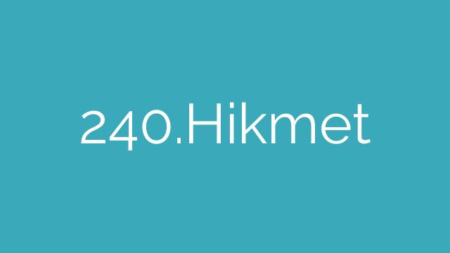 240.Hikmet