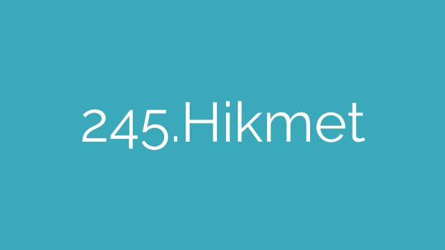 245.Hikmet