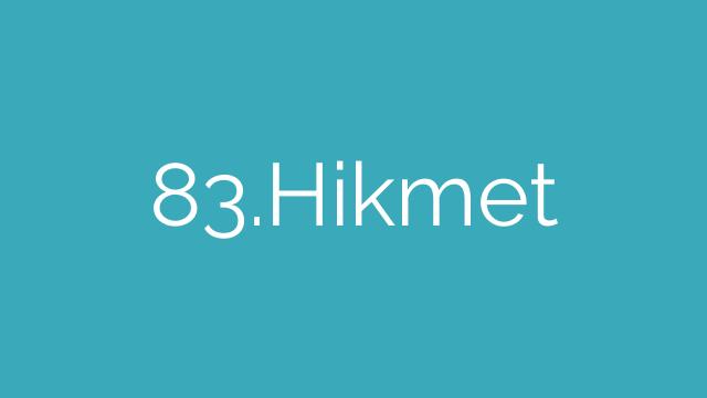 83.Hikmet