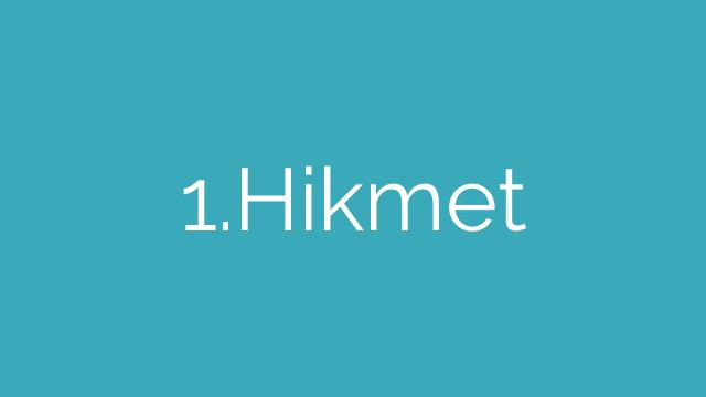 1-10. Hikmet