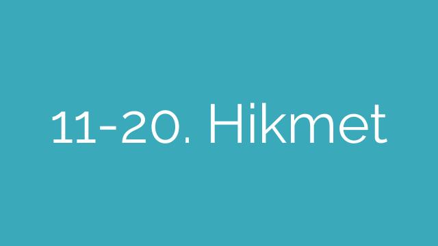 11-20. Hikmet