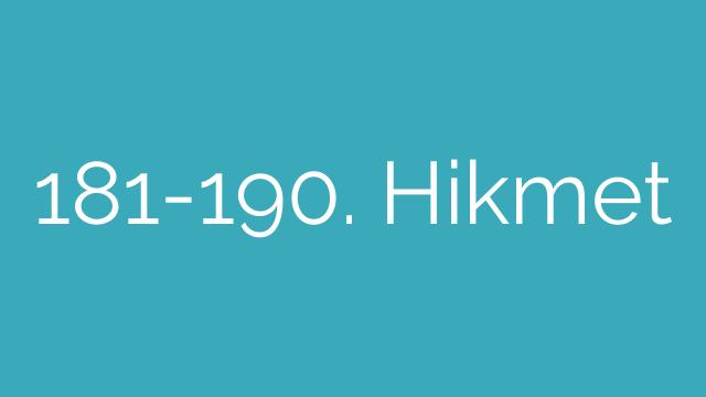 181-190. Hikmet