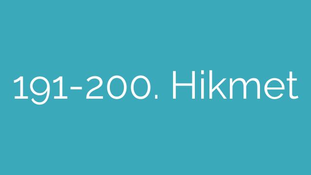 191-200. Hikmet