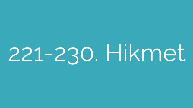 221-230. Hikmet
