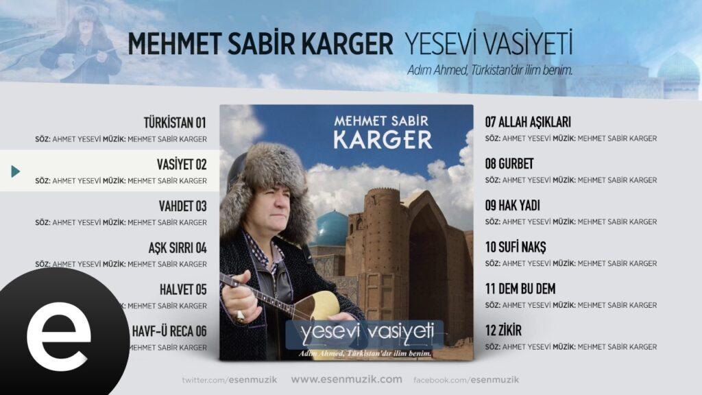 Yesevî Vasiyeti / M. Sabir KARGER